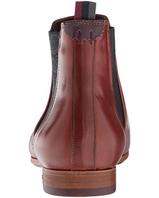 Ted Baker Whron Chelsea Boot, Tan Leather, 11 Medium Us for