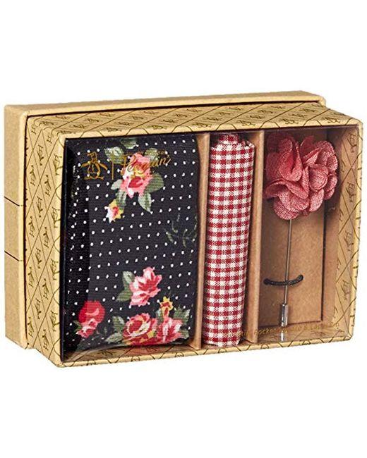 Original Penguin Black 3-piece Floral Tie, Pocket Square & Lapel Pin Box for men