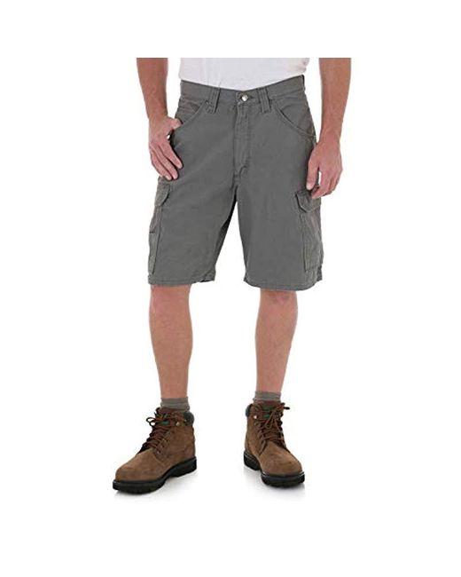 3045875fef Wrangler RIGGS Workwear Ranger Cargo Short in Gray for Men - Save 14 ...