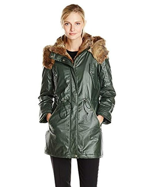 Marc New York - Green Lauren Coated Cotton Anorak - Lyst