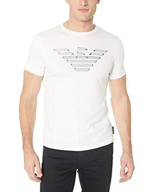 Emporio Armani - White Fashion Logo Tees for Men - Lyst