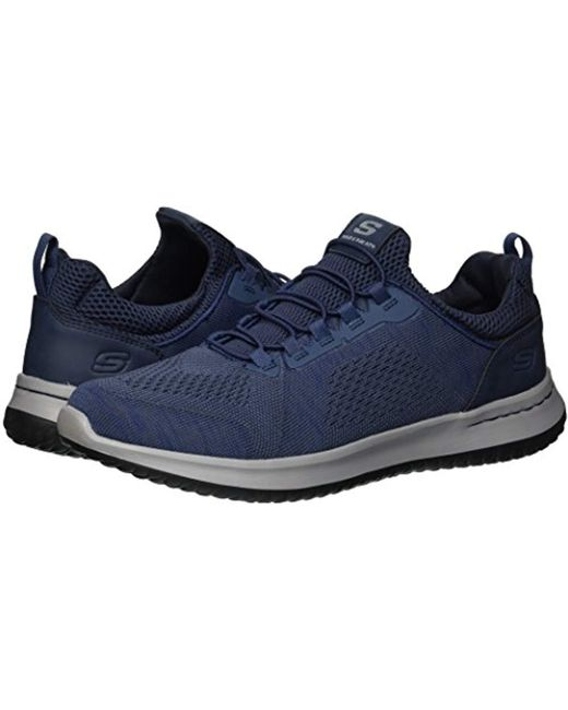 excellent quality various styles buying new Skechers Lace Relaxed Fit-delson-brewton Sneaker in Blue for ...