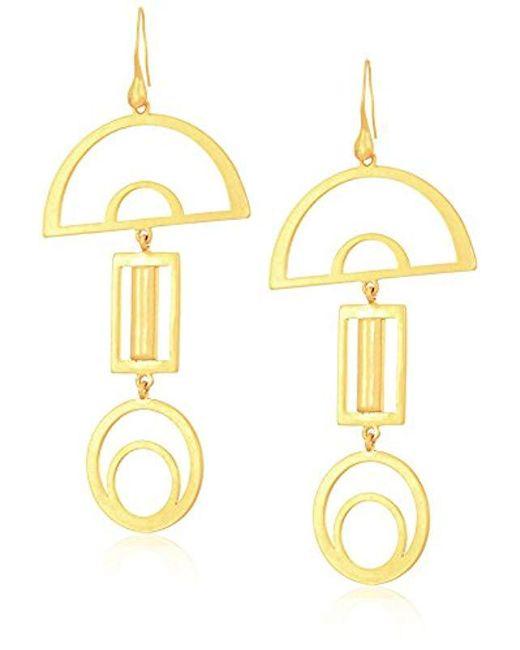 Dear Drew by Drew Barrymore - Metallic Gramercy Drop Earrings - Lyst