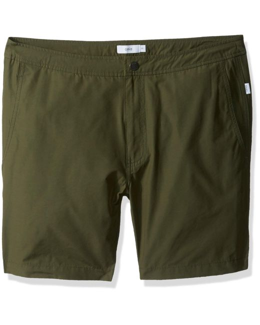 Onia Green Calder 7.5 Inch Solid Swim Trunk for men
