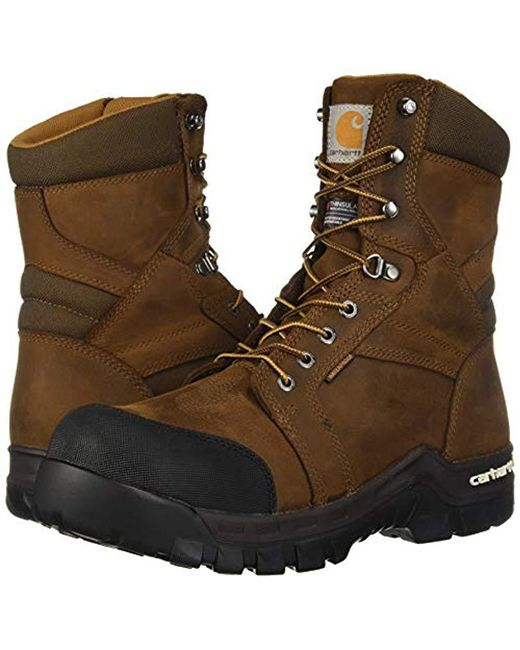 0123a8f520d Men's Brown Csa 8-inch Rugged Flex Wtrprf Insulated Work Boot Comp Safety  Toe Cmr8939 Industrial