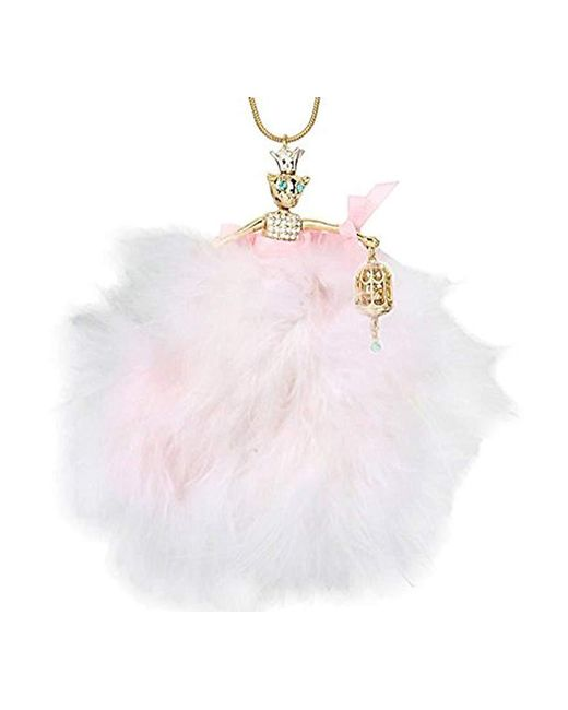 "Betsey Johnson - Pink Marie Antoinette Mouse Ballerina Long Pendant Necklace, 32.5"" + 3"" Extender - Lyst"