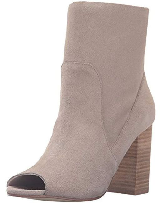 Chinese Laundry - Gray Tom Girl Peep Toe Boot - Lyst