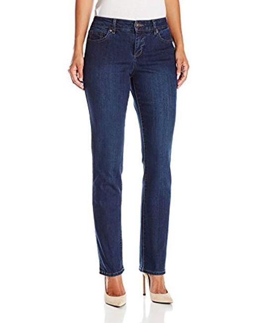 Bandolino Blue Mandie Signature Fit 5 Pocket Jean