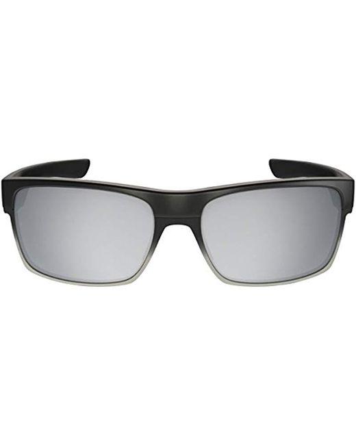 8f15ab18784 ... Oakley - Black Twoface Rectangular Sunglasses - Lyst ...