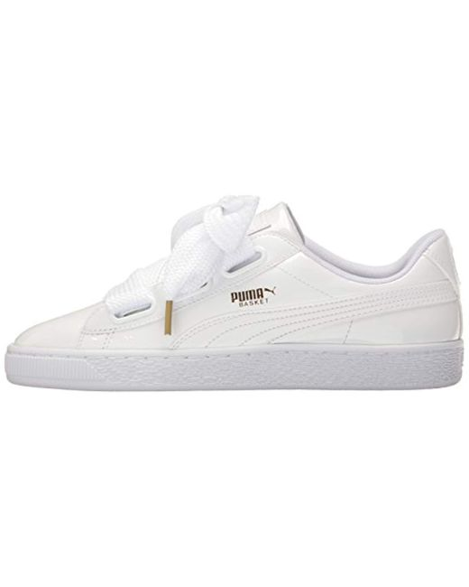 huge discount 45aad 8465a Women's White Basket Heart Patent Wn's Sneaker