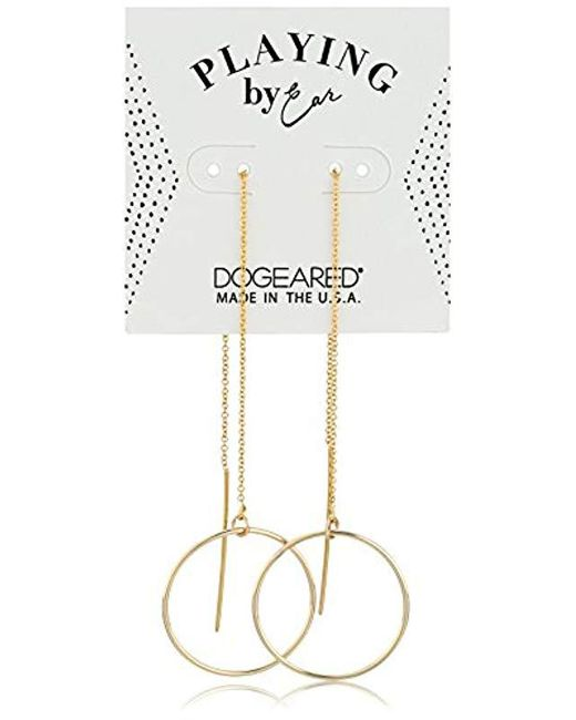 Dogeared - Metallic S Playing By Ear, Hoop Threader Earrings - Lyst