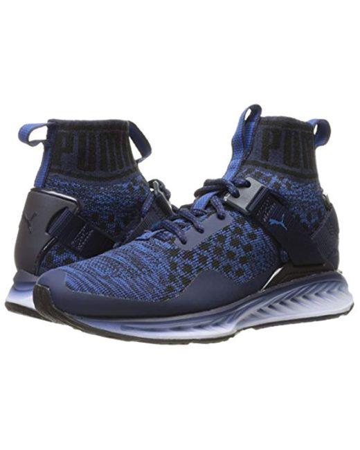 buy popular 2dace d9c22 Men's Blue Ignite Evoknit Fade Cross-trainer Shoe