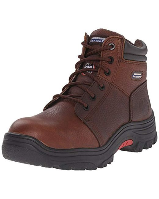 Skechers - Brown For Work Burgin Comp Toe Work Boot for Men - Lyst