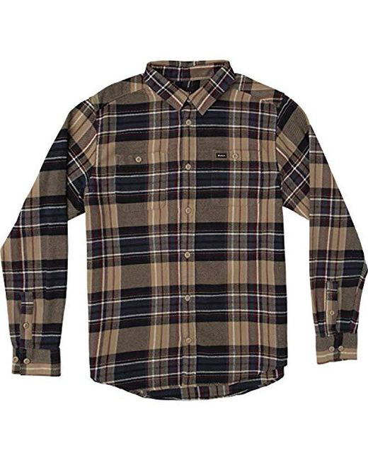 RVCA - Multicolor Ludlow Plaid Flannel Shirt for Men - Lyst