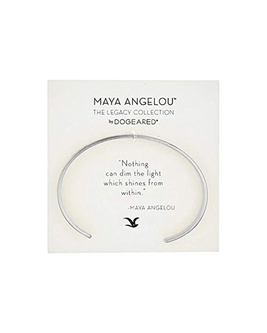 Dogeared - Metallic Maya Angelou: Nothing Can Dim The Light Cuff Bracelet (sterling Silver) Bracelet - Lyst