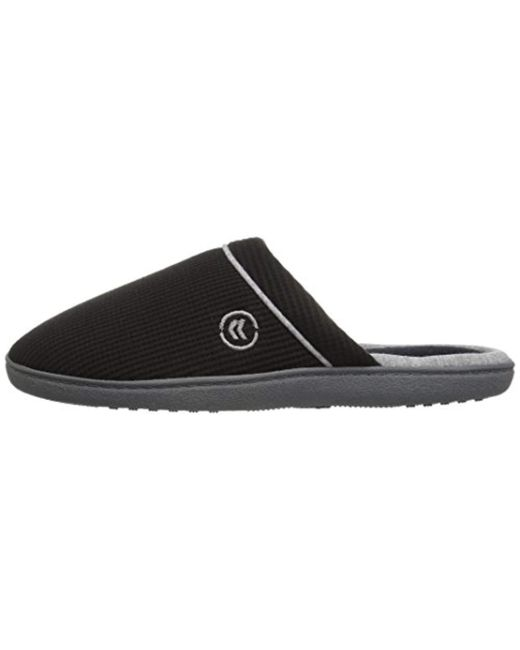 eeaa0b305a53 ... Isotoner - Black Waffle Knit Slip On Clog Slipper For Indoor outdoor  Comfort And Arch ...