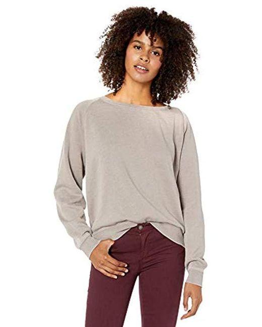 RVCA Womens Everyday Label Crew Neck Sweatshirt