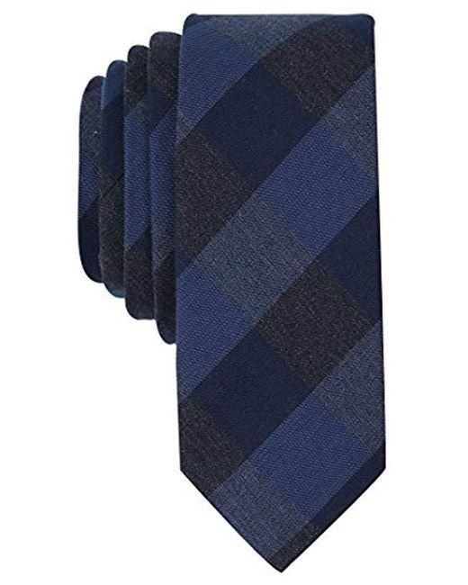 Original Penguin - Blue Men's Rosebud Check Skinny Tie for Men - Lyst