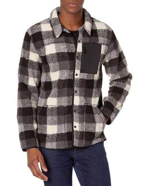 Ugg Black Keefe Sherpa Jacket for men