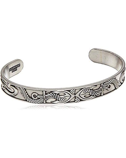 ALEX AND ANI - Metallic Anchor Cuff Bracelet, Rafaelian Silver, Expandable for Men - Lyst