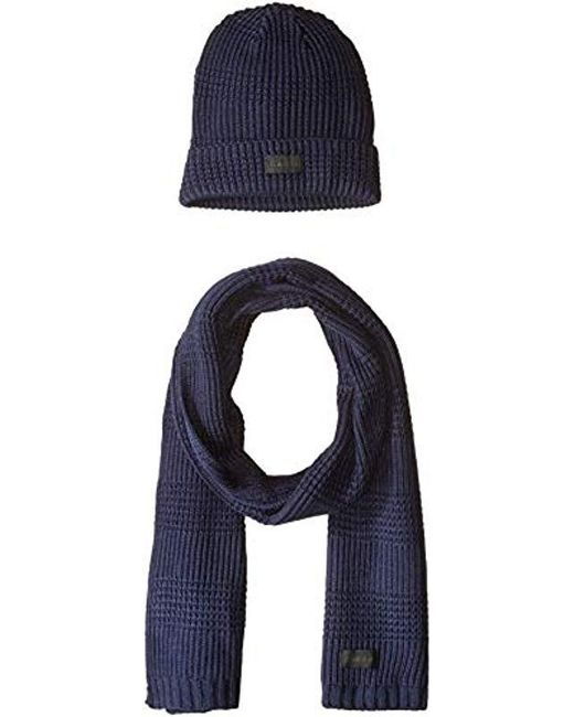 Calvin Klein - Blue Hat And Scarf Set for Men - Lyst ... 30a6655586c