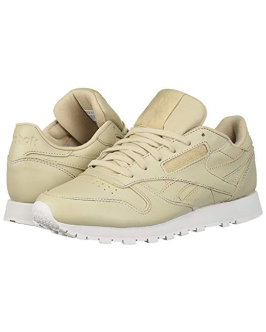5273bd3a576 Lyst - Reebok Classic Leather Sneaker in Natural - Save 10%