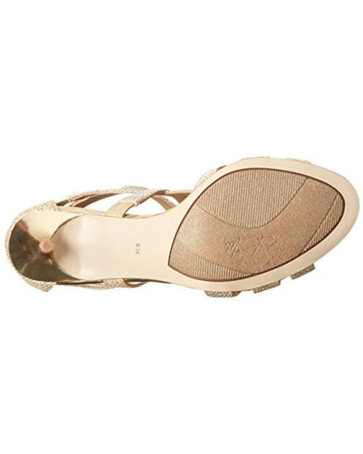 9dc03f328a ... Marc Fisher - Metallic Shoes Nala3 Dress Sandal - Lyst ...
