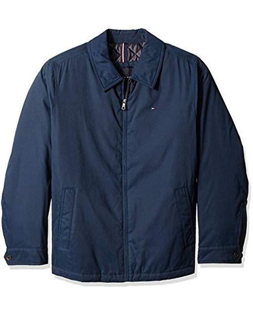 492a2bcd Tommy Hilfiger - Blue Big Micro Twill Laydown Collar Golf Jacket for Men -  Lyst ...