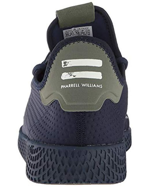 5f74efde54867 Men's Blue Adidas Pharrell Williams Hu Tennis Shoe