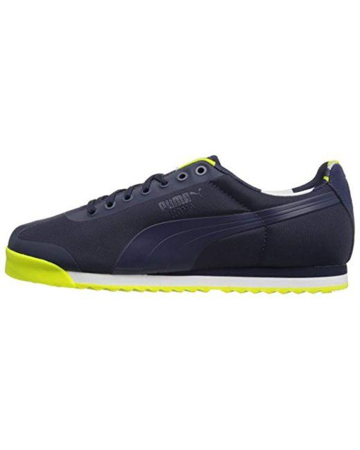 ... PUMA - Blue Roma Basic Geometric Camo Fashion Sneaker for Men - Lyst ... dc04ce4b1
