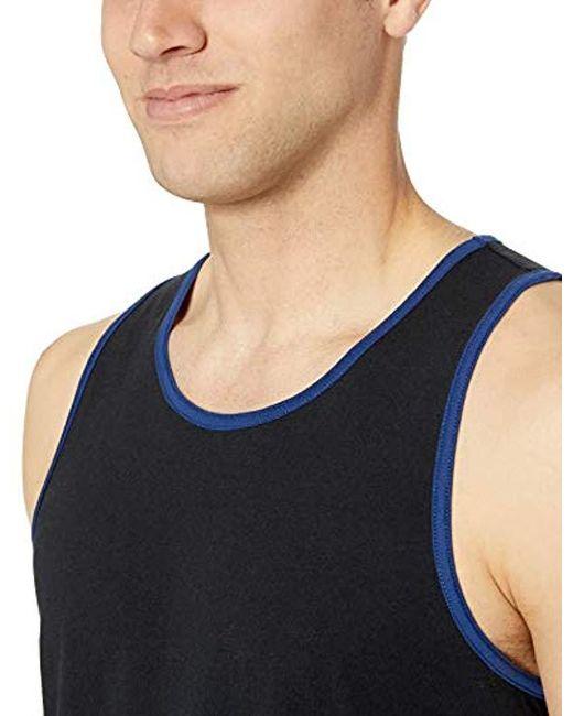 93ce6d419fcadb ... Amazon Essentials - Multicolor Regular-fit Ringer Tank Top for Men -  Lyst ...