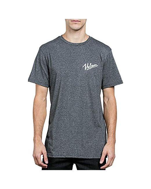Volcom - Black Kurrent Short Sleeve Tee for Men - Lyst