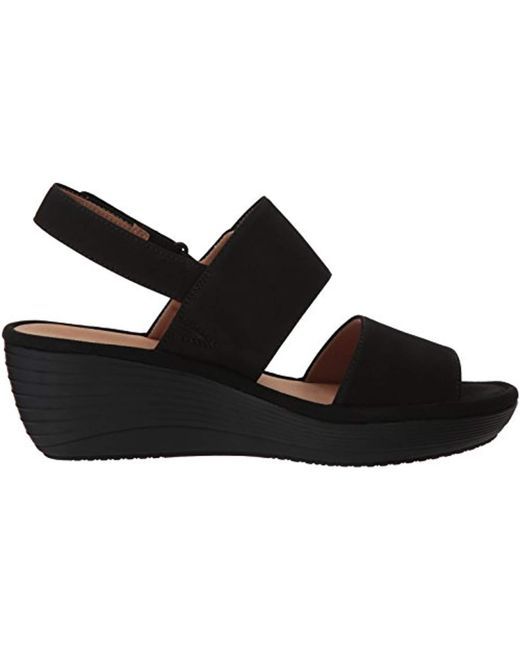 53eb7176bcab Lyst - Clarks Reedly Breen Wedge Sandal in Black - Save 36%