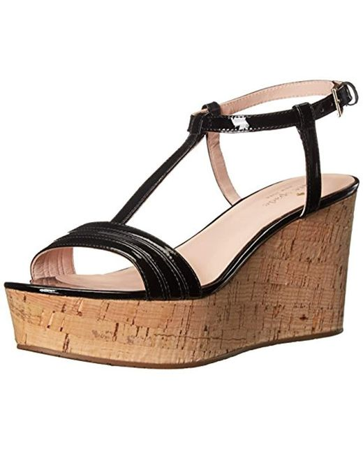 88f0901545b Kate Spade - Black Tallin Wedge Sandal - Lyst ...