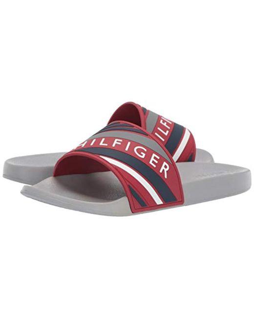 8e2f40dab ... Tommy Hilfiger - Red Emmy Slide Sandal for Men - Lyst ...
