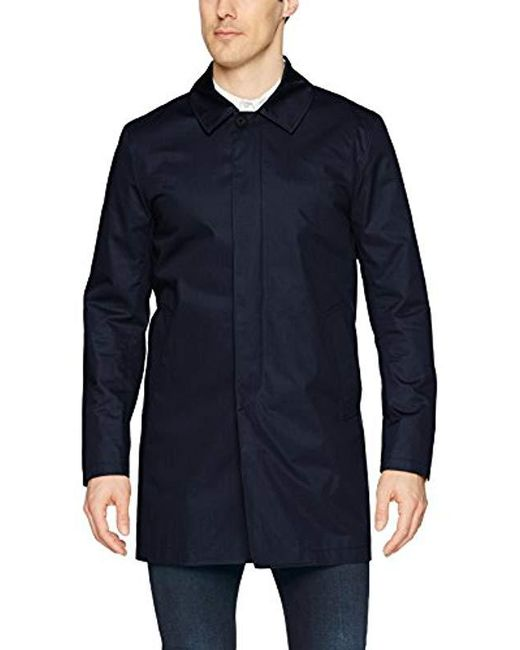 J.Lindeberg Blue Water Repellent Twill Coat for men