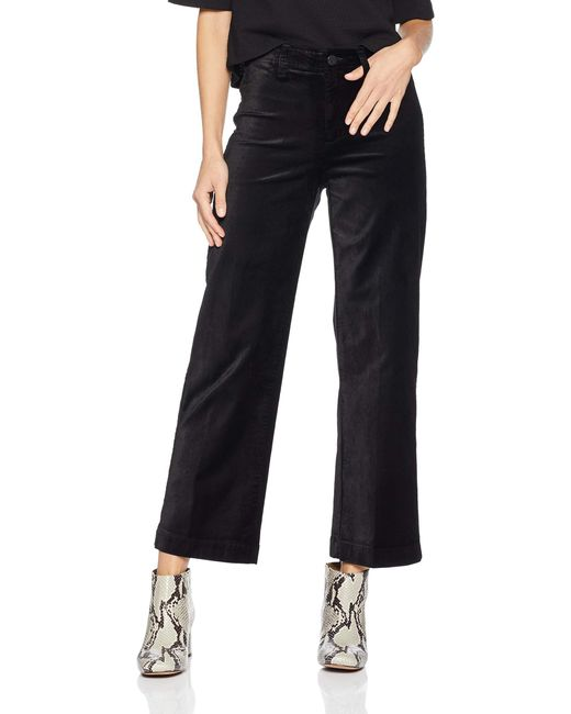 PAIGE Red Nellie Culotte High Rise Wide Leg Ankle Jean