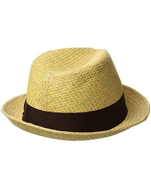 f78ed6b2b68 ... Brixton - Multicolor Castor (tan Straw) Traditional Hats for Men - Lyst  ...