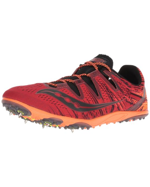Saucony Red Carrera Xc 3 Track Shoe for men