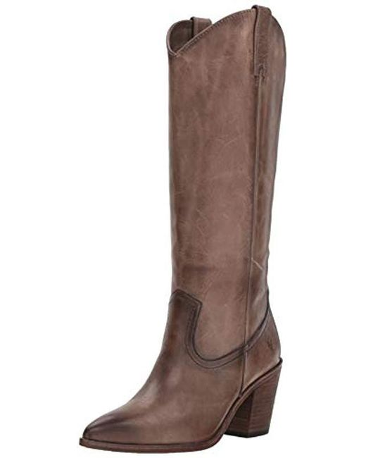 Frye - Brown Faye Pull On Western Boot - Lyst
