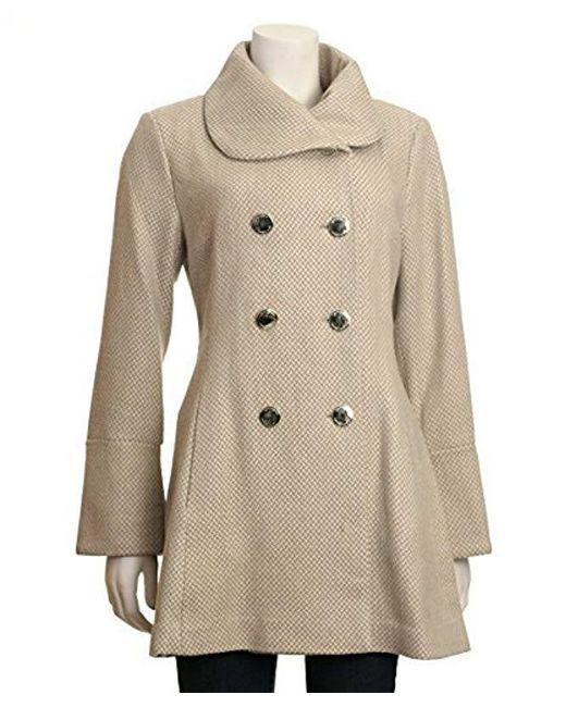 Jessica Simpson - Natural Bell Sleeve Basketweave Wool Coat - Lyst