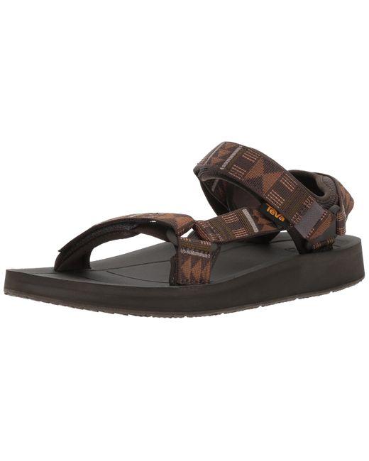 Teva Brown M Original Universal Premier Sport Sandal for men