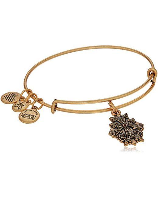 ALEX AND ANI - Metallic Armenian Cross Iv Bangle Bracelet - Lyst