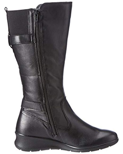 6cde9c97f7b ... Ecco - Black Babett Wedge Gore-tex Winter Boot - Lyst ...