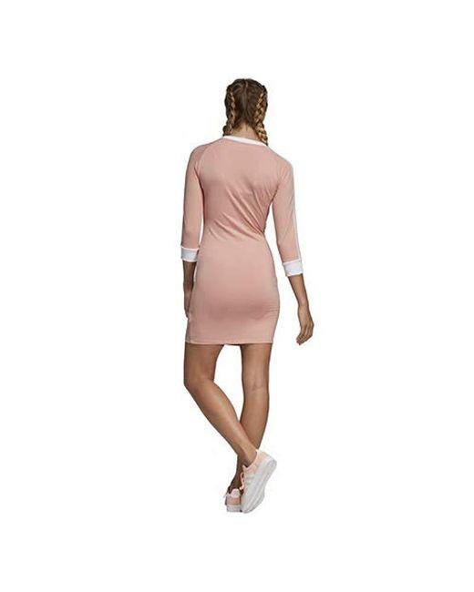 a164981bac ... Adidas Originals - Pink 3-stripes Dress - Lyst ...