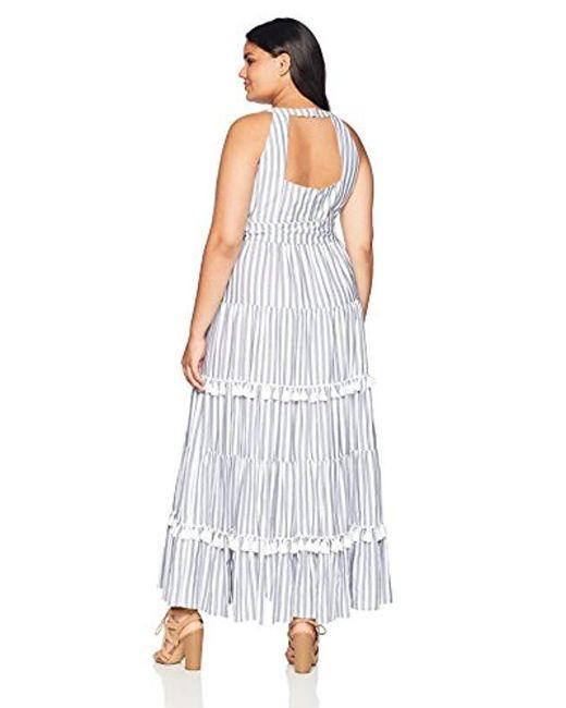 Women\'s White Plus Size Halter Maxi Dress