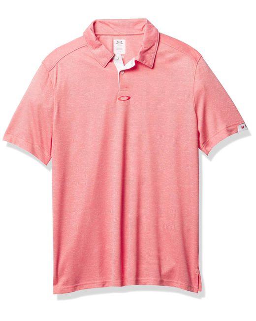 Oakley Pink Gravity Ss Polo 2.0 Shirt for men