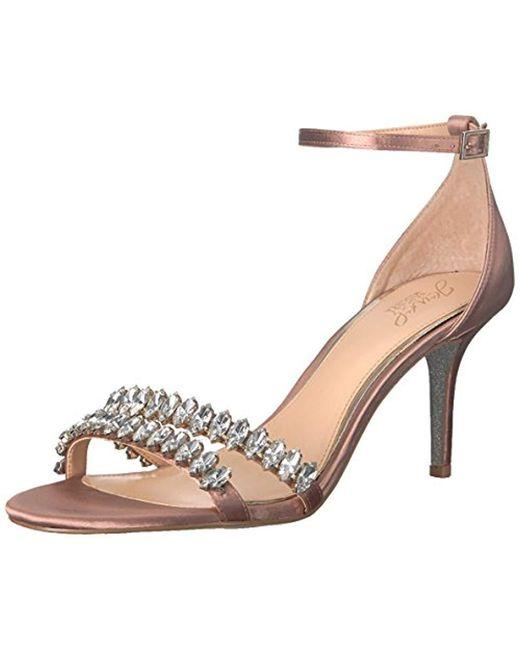 brand new half off good quality Women's Jewel Melania Sandal, Blush Satin, M065 M Us