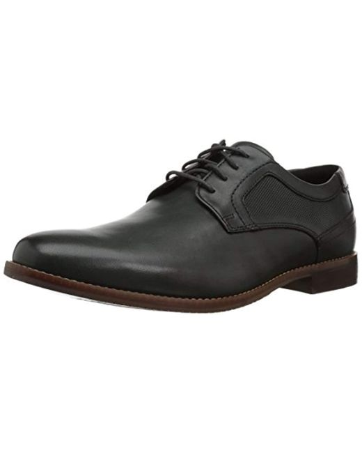 Rockport Black Style Purpose Perfed Plain Toe Oxford for men