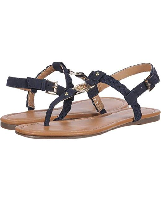 89e101158036 Lyst - Tommy Hilfiger Loreas Flat Sandal in Blue - Save 54%